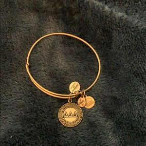 Alex and Ani Tri Delta gold bracelet